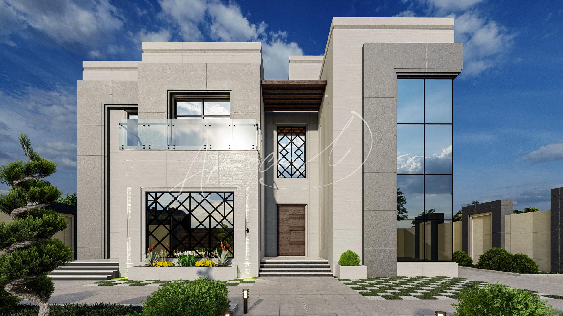 Modern Luxurious Villa Exterior Design - 067