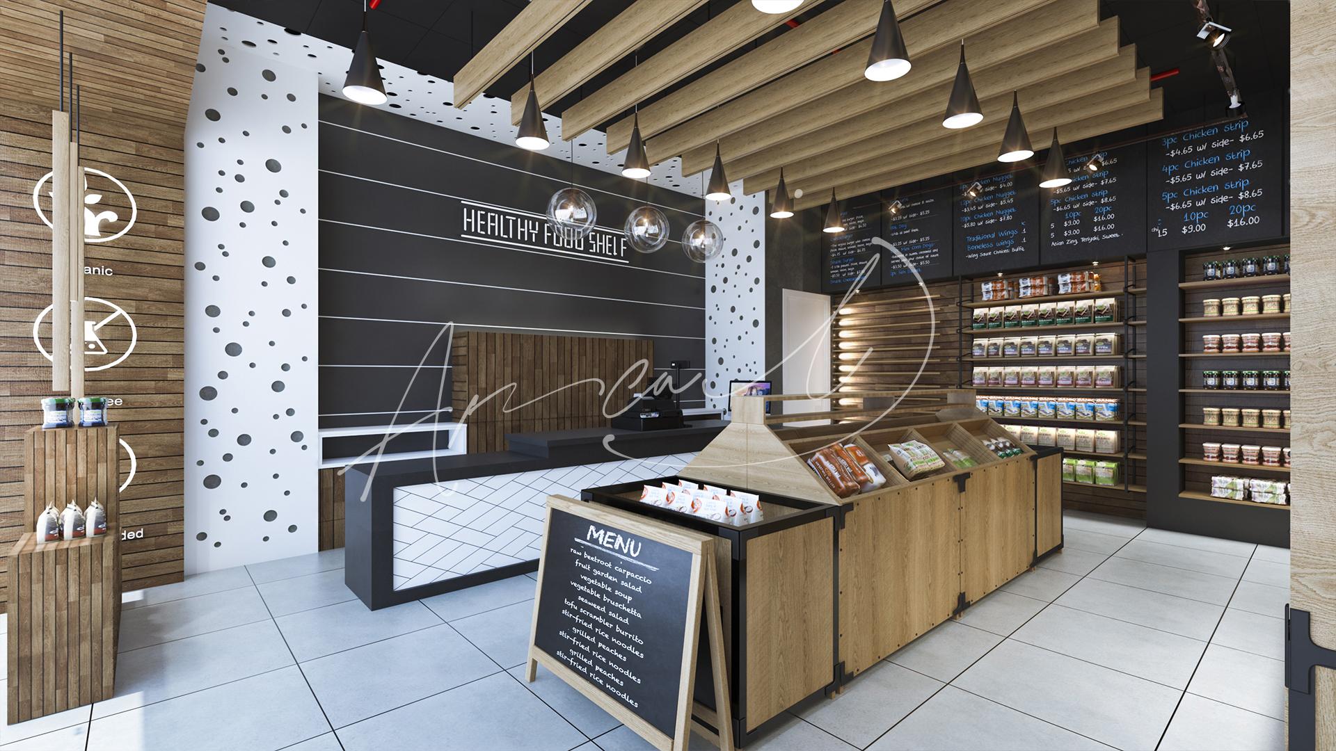 Healthy Food Shop Interior Design