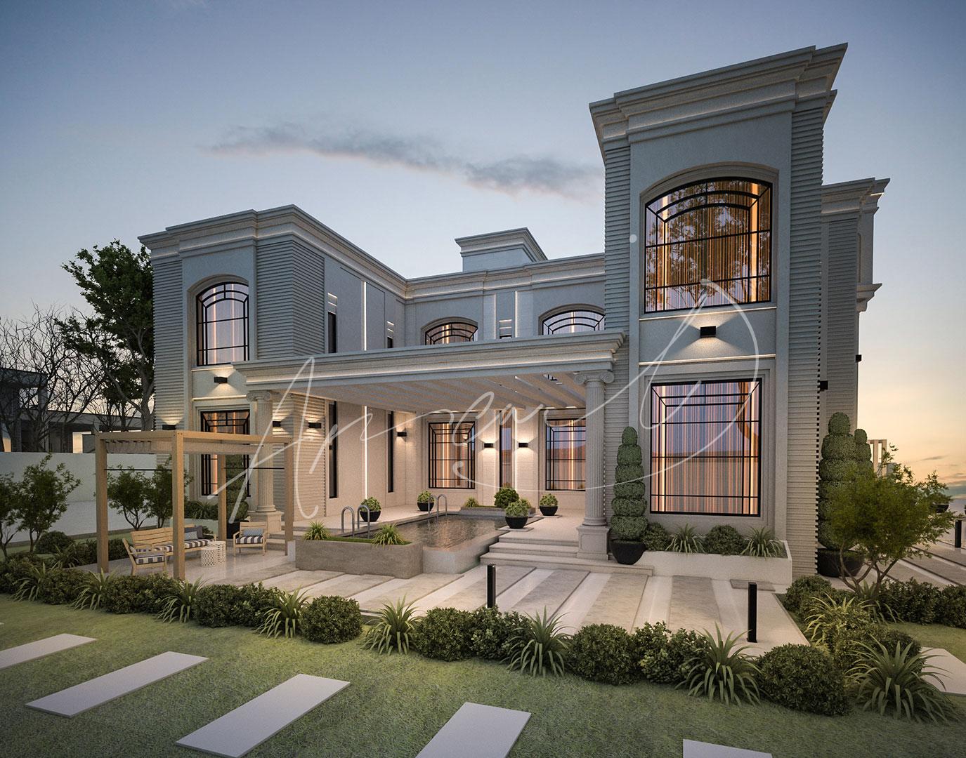 Luxury New Classic Villa Design - 049