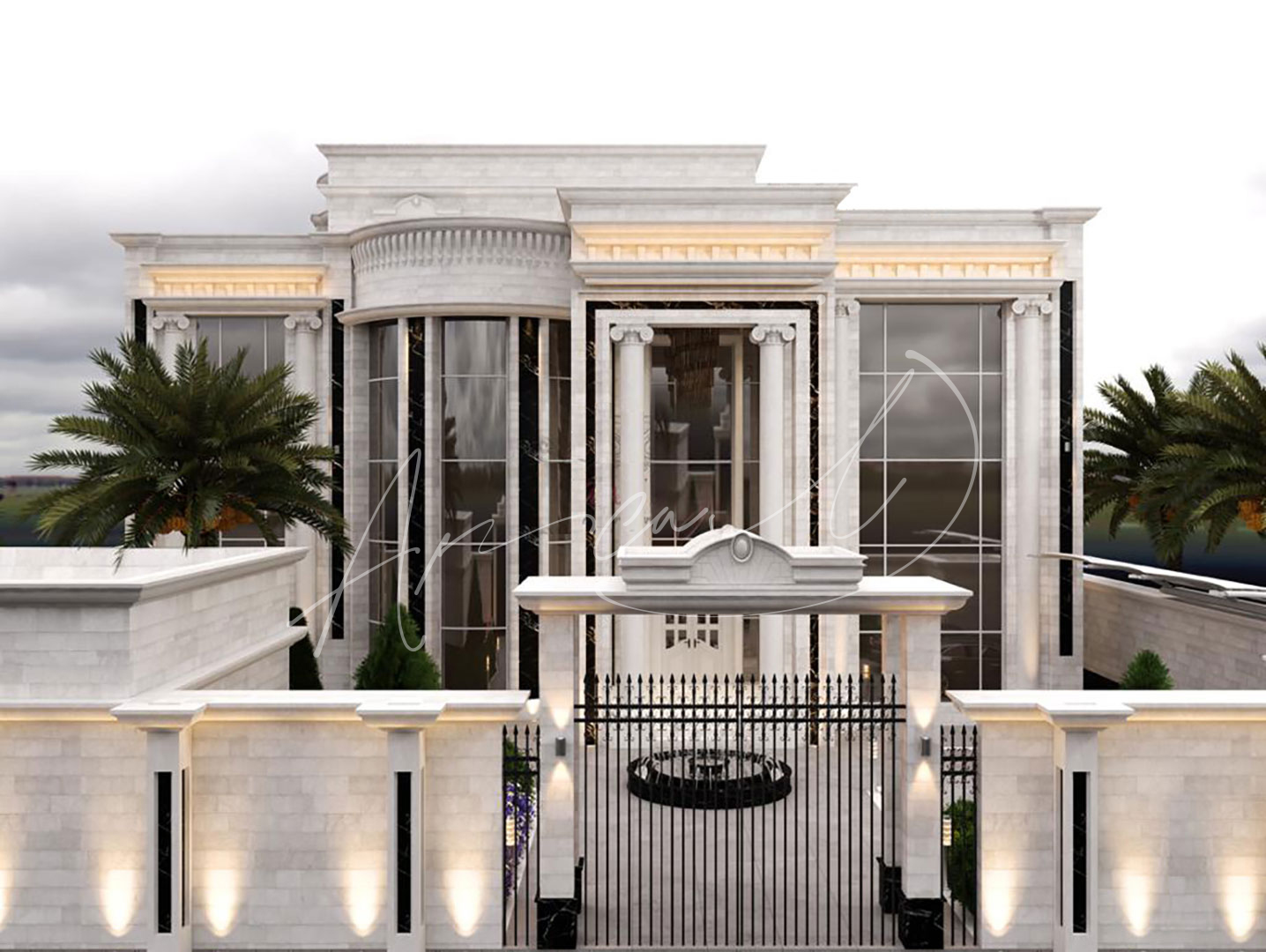 Luxury Neoclassical Villa Design - 051