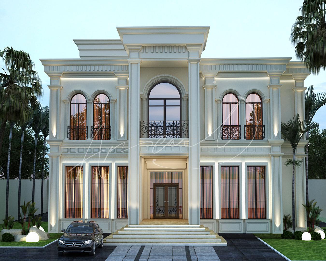 Luxury Neoclassical Villa Design - 056