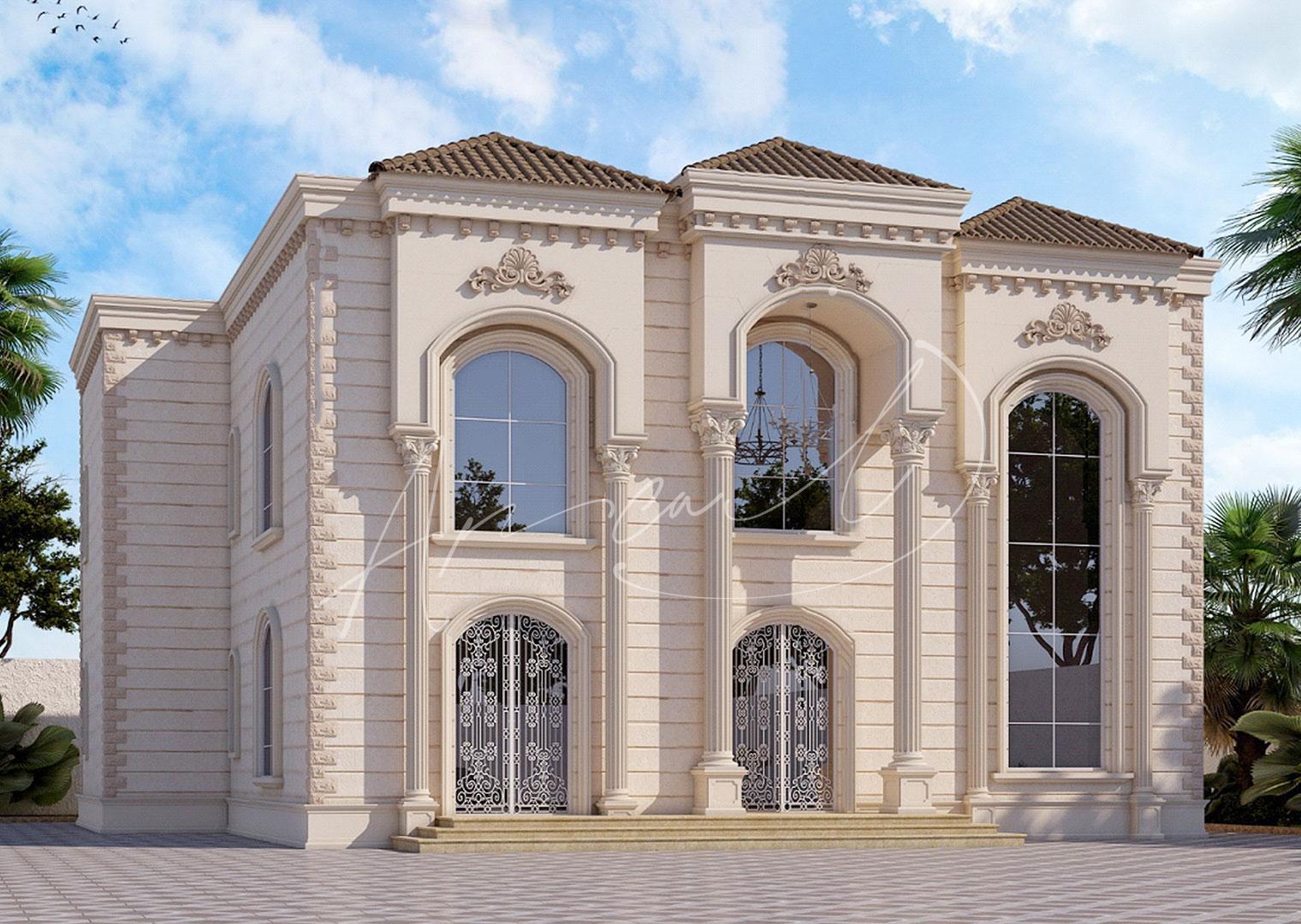 Classic Residential Villa Exterior Design - 019