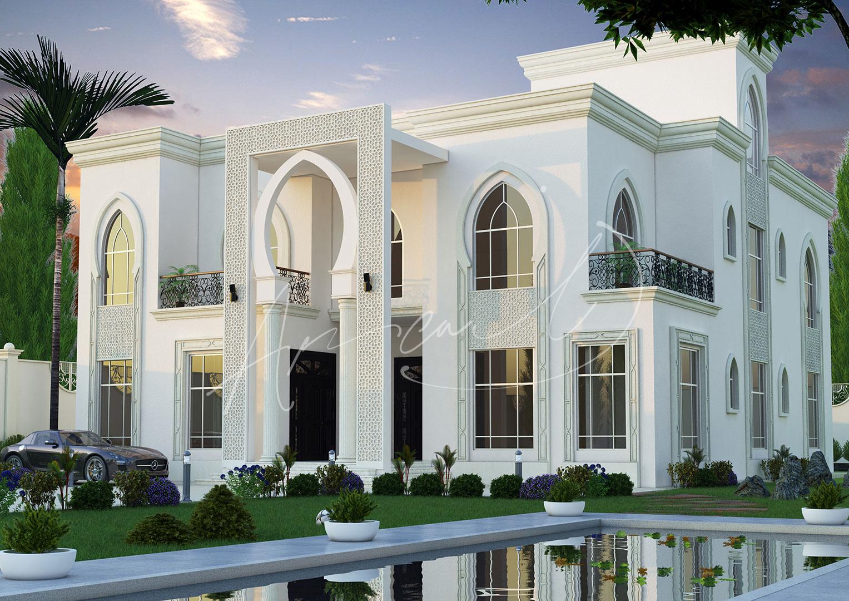 Islamic Luxurious Villa Exterior Design - 021