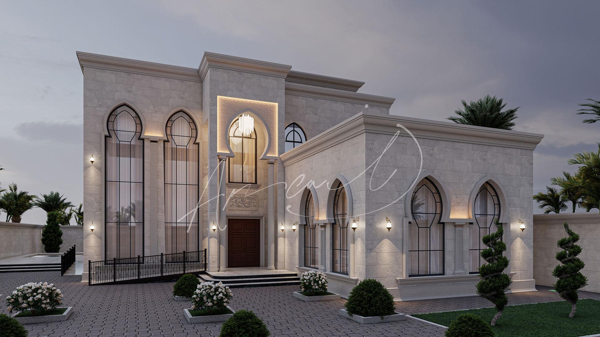 Islamic Villa Exterior Design - 022