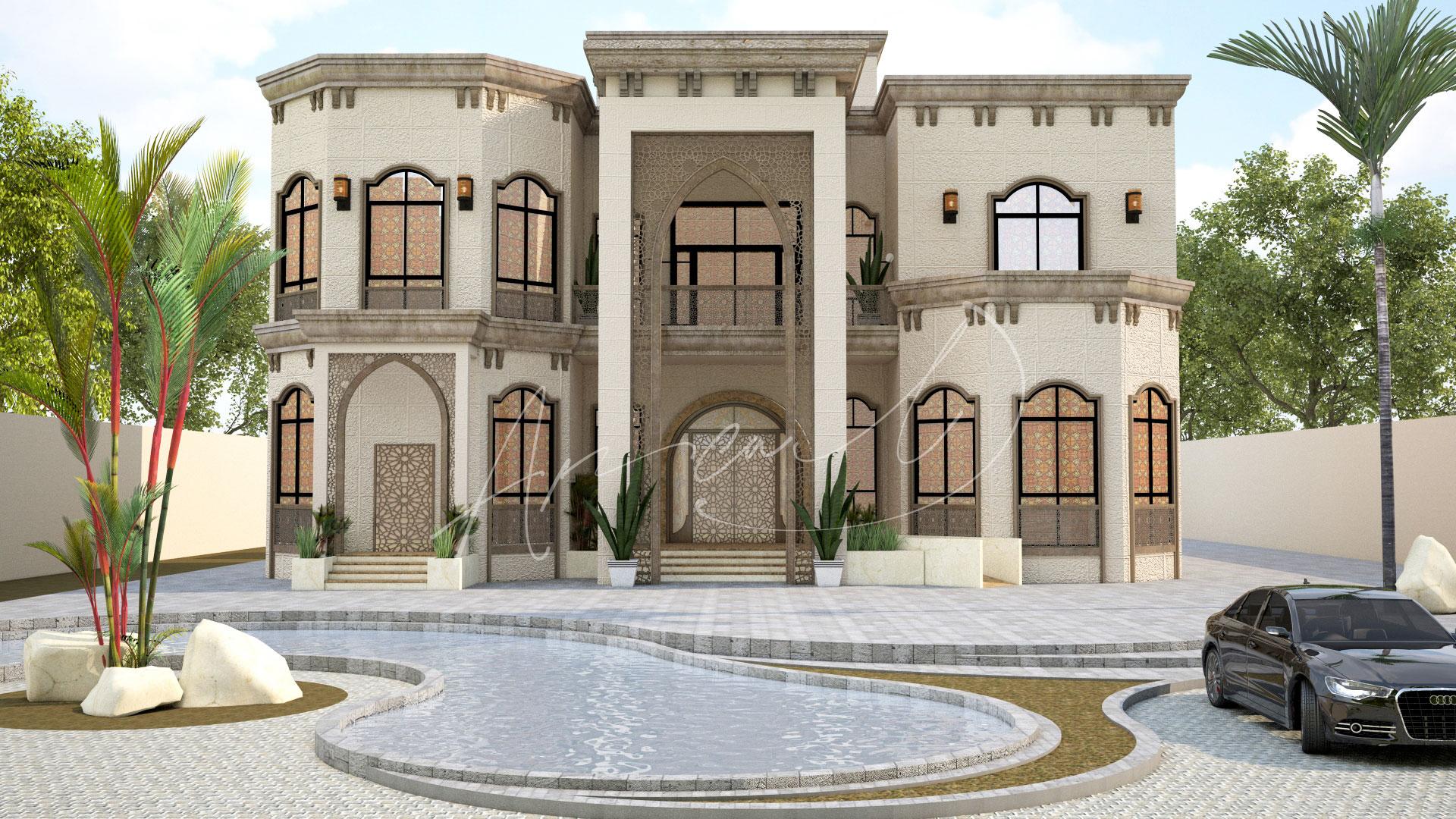 Islamic Villa Exterior Design - 023