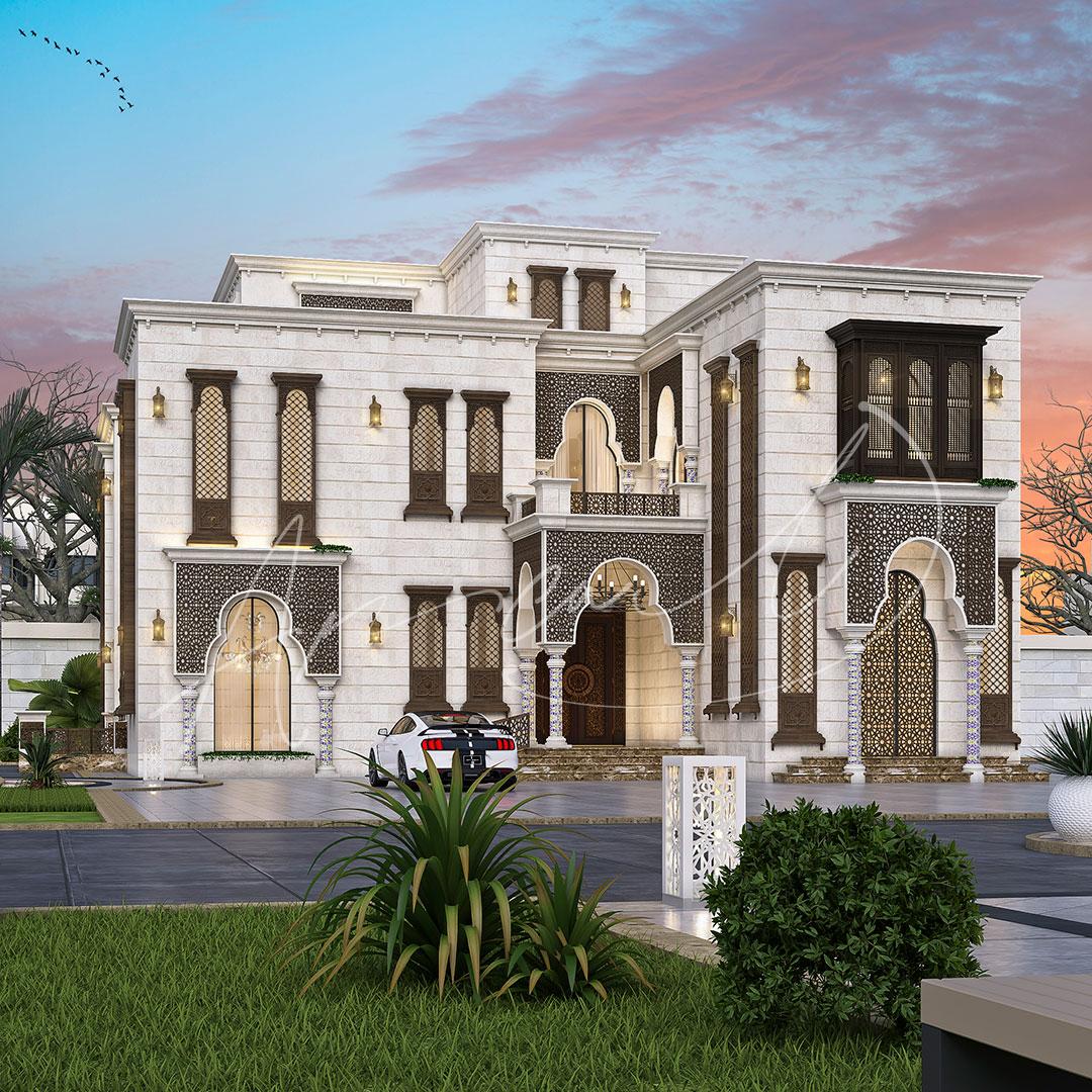 Islamic Luxurious Villa Exterior Design - 024