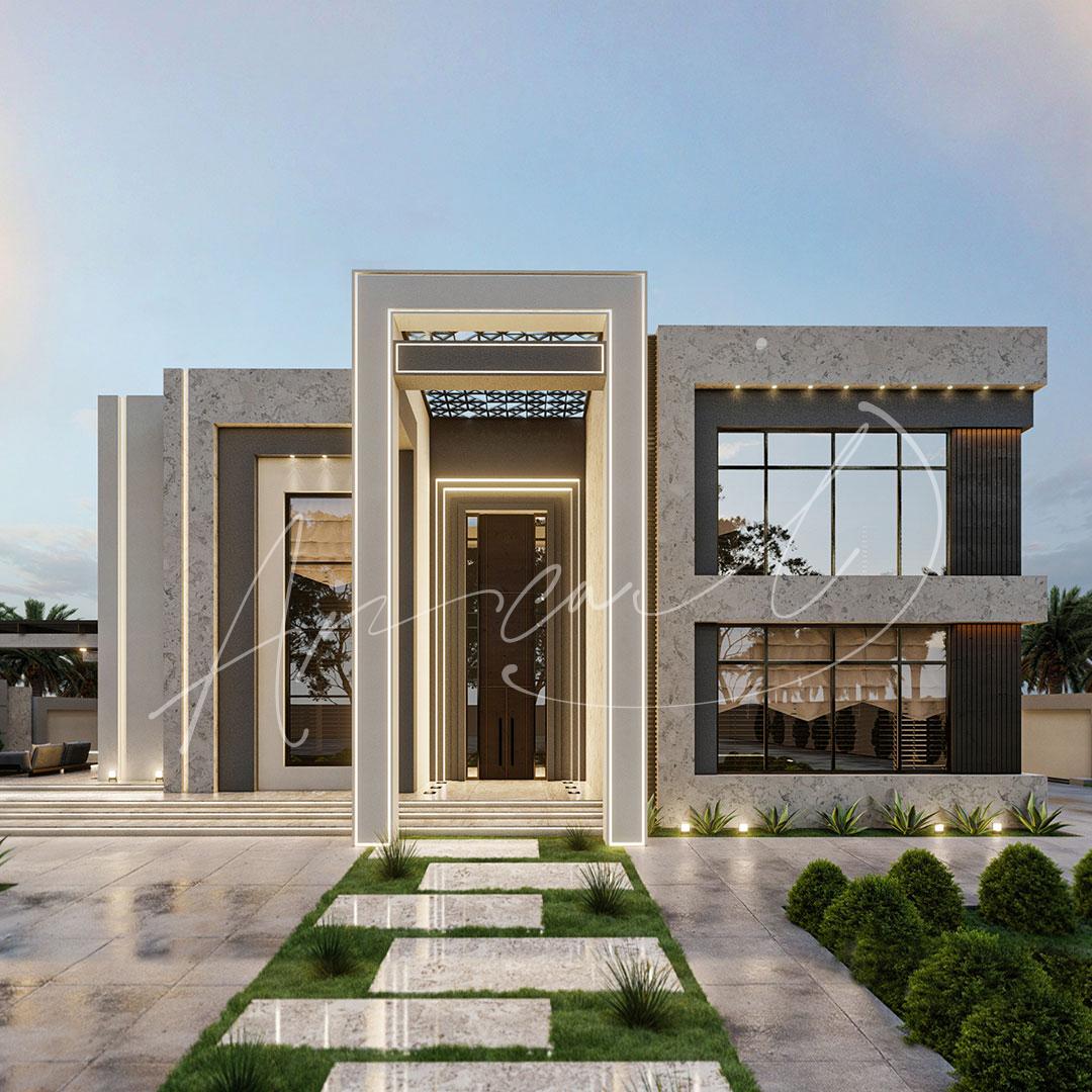 Modern Luxurious Villa Exterior Design - 025
