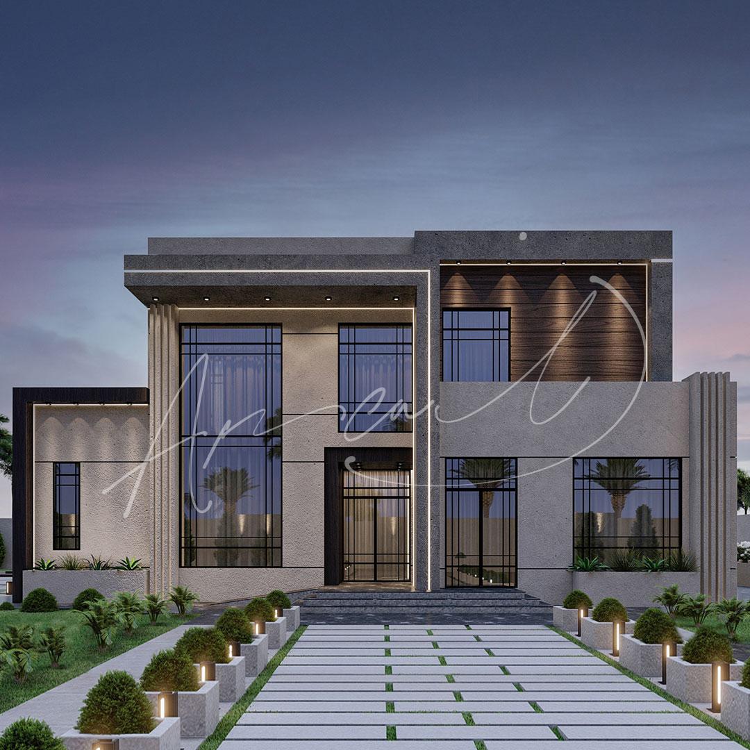 Modern Villa Exterior Design - 028