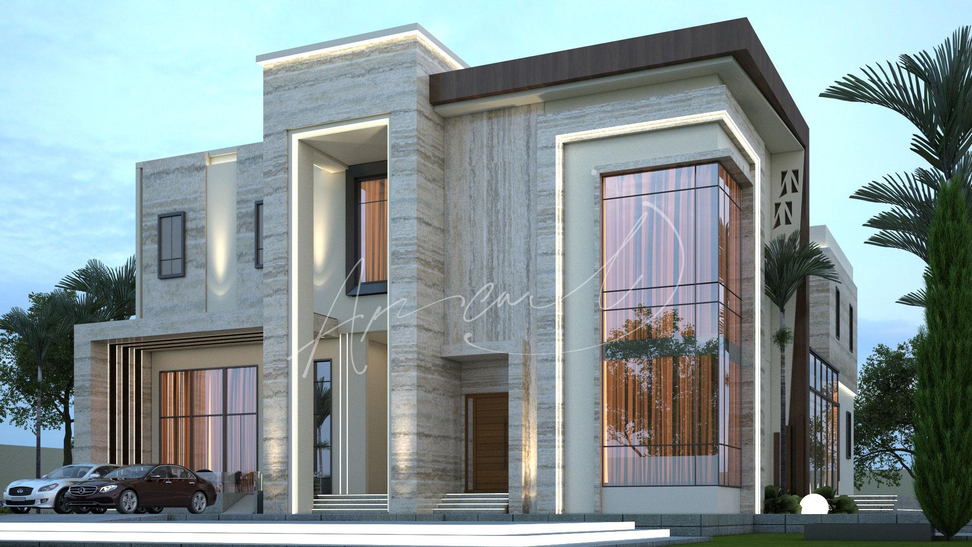 Modern Villa Exterior Design - 030
