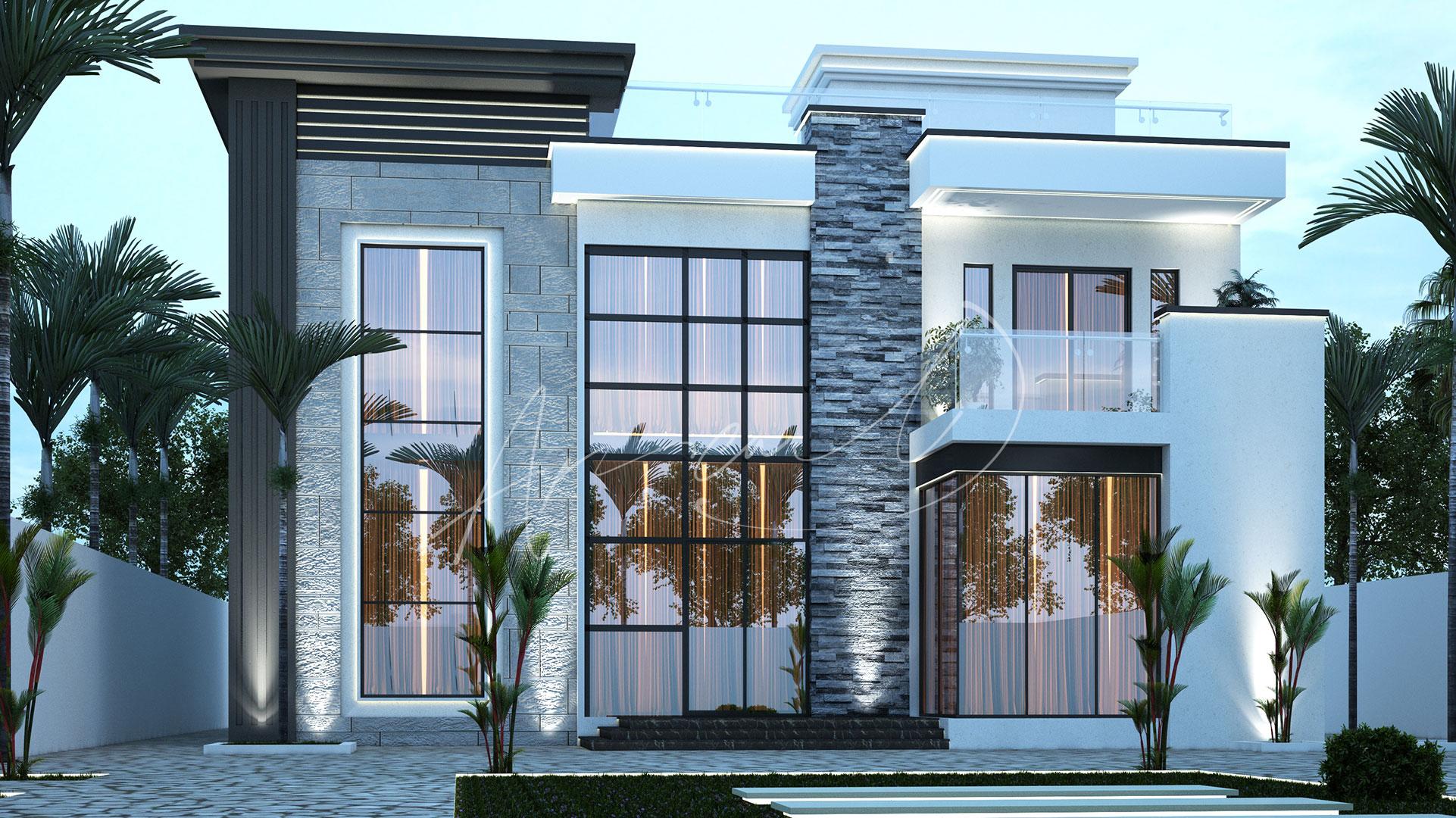 Modern Villa Exterior Design - 032