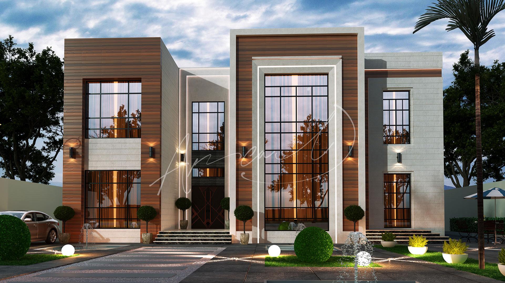 Modern Villa Exterior Design - 033