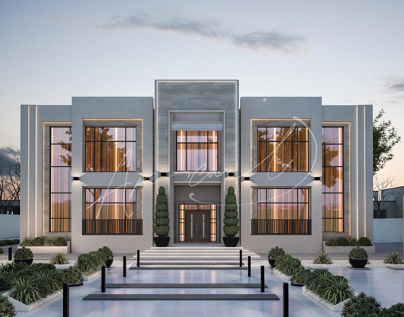 Modern Luxurious Villa Exterior Design - 034