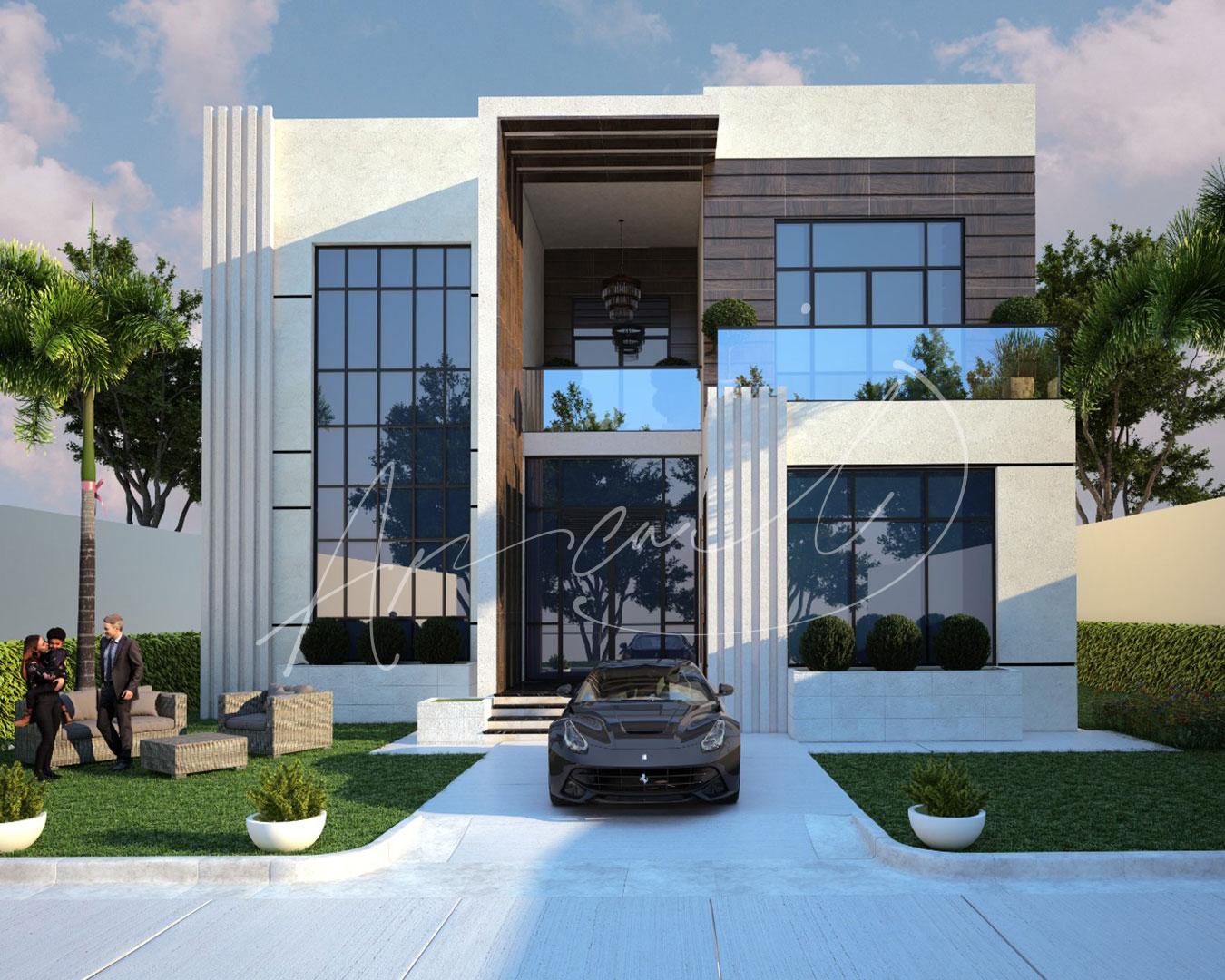 Modern Villa Exterior Design - 037