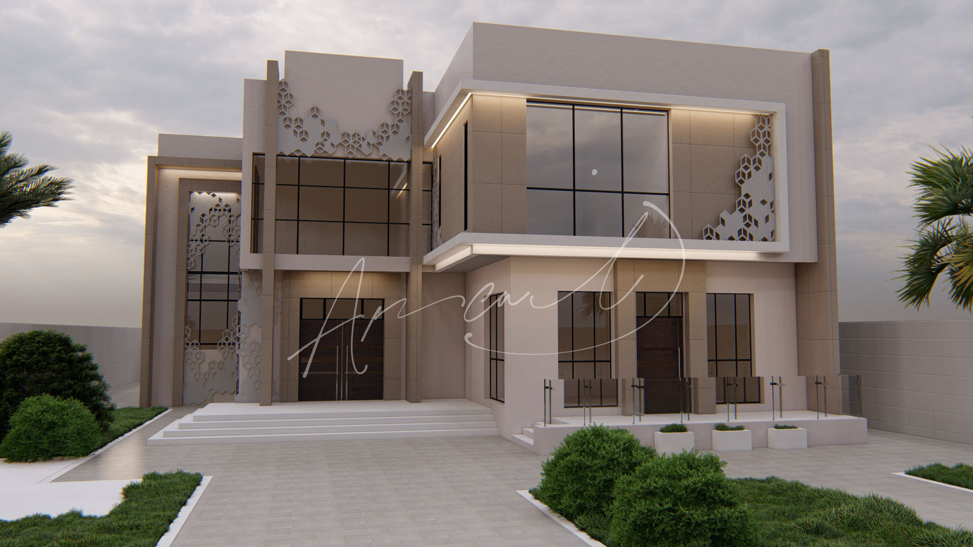 Modern Villa Exterior Design - 038
