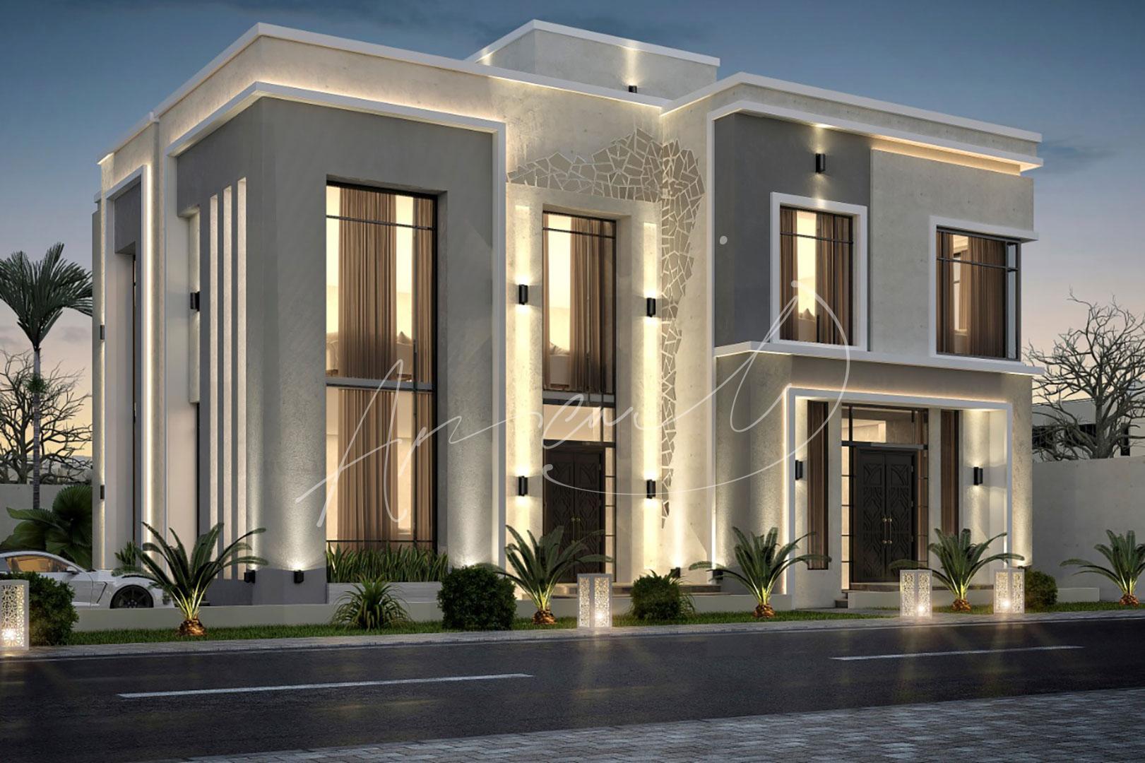 Modern Villa Exterior Design - 039