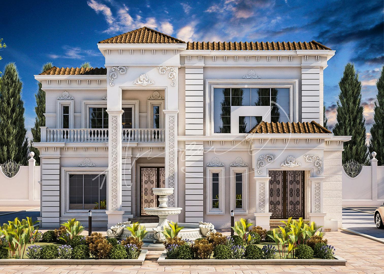 Luxury Neoclassical Villa Design - 041