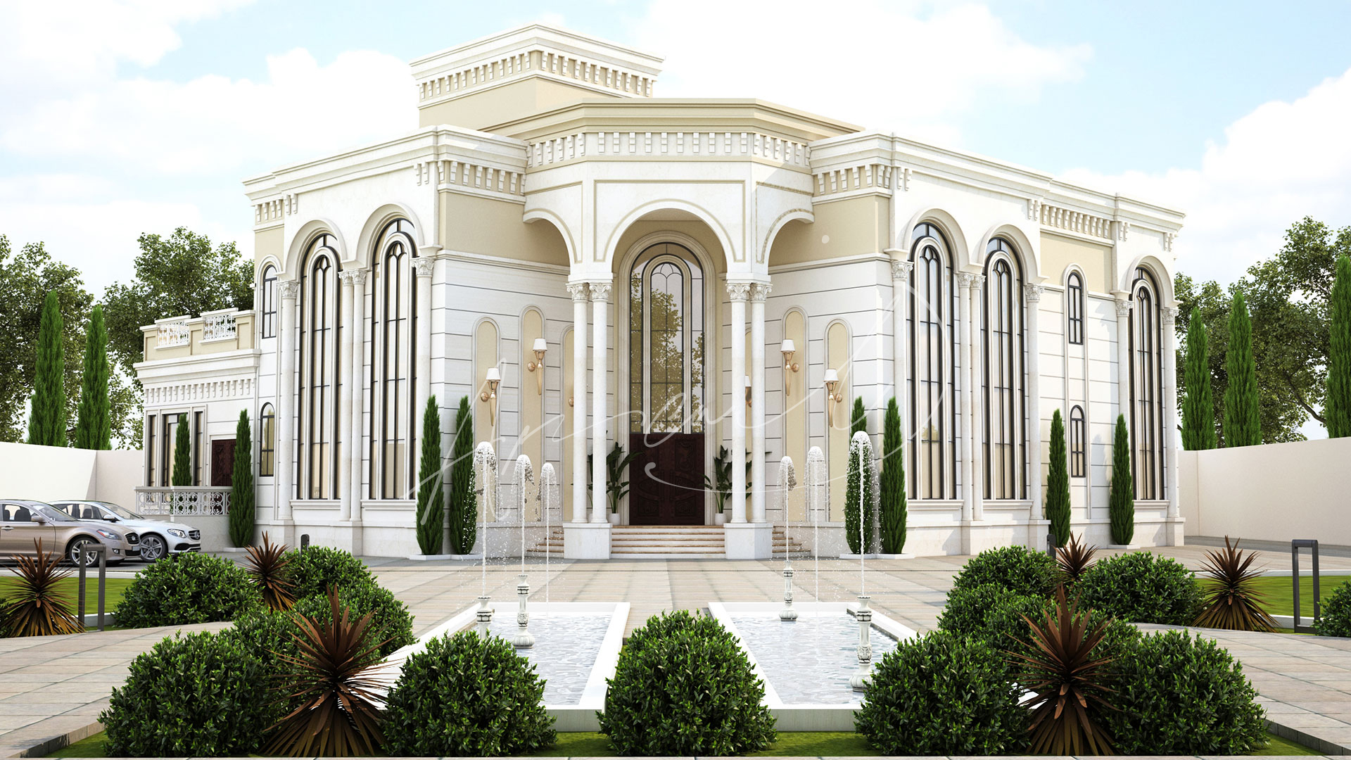 Classic Luxury Residential Villa Exterior Design - 002