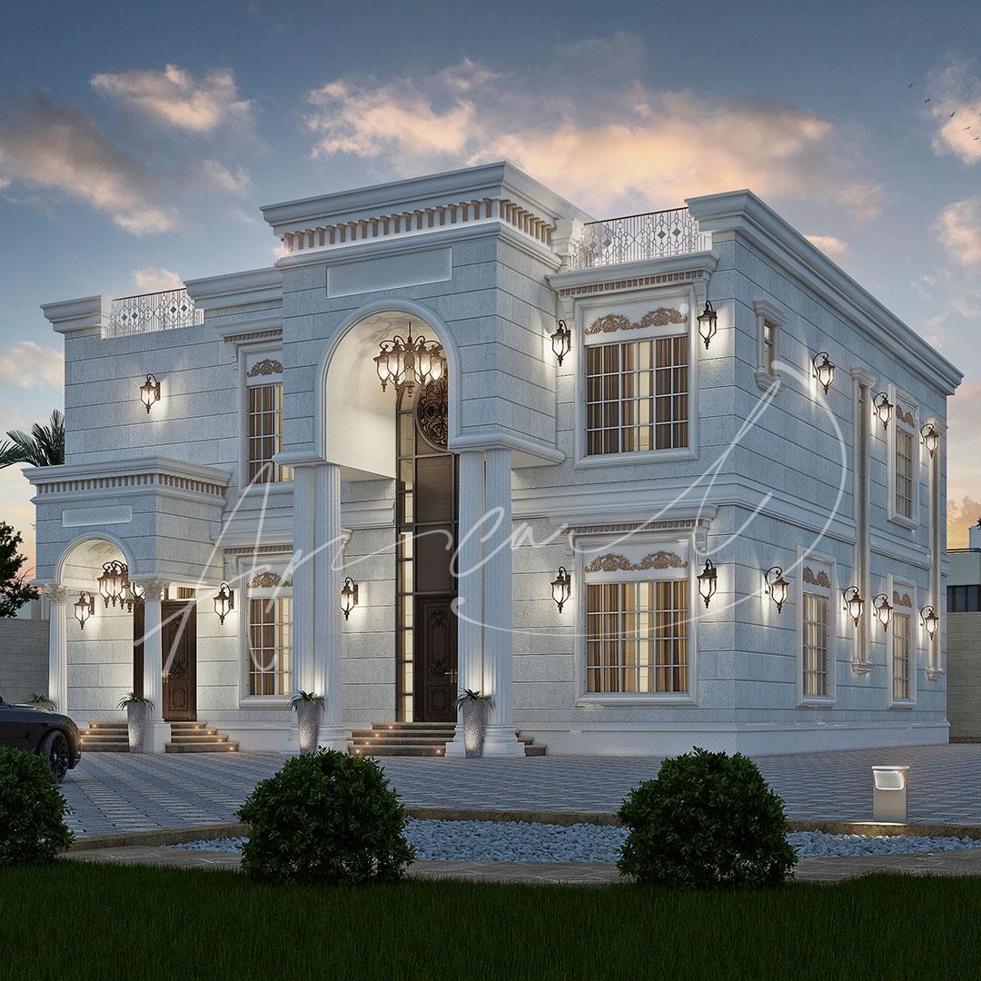 Classic Luxury Residential Villa Exterior Design - 004