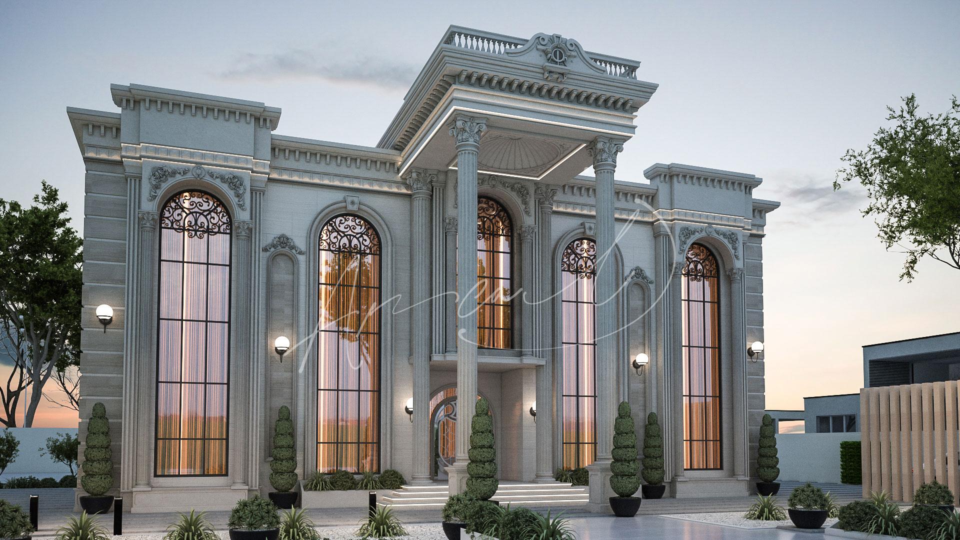 Classic Luxury Residential Villa Exterior Design - 005