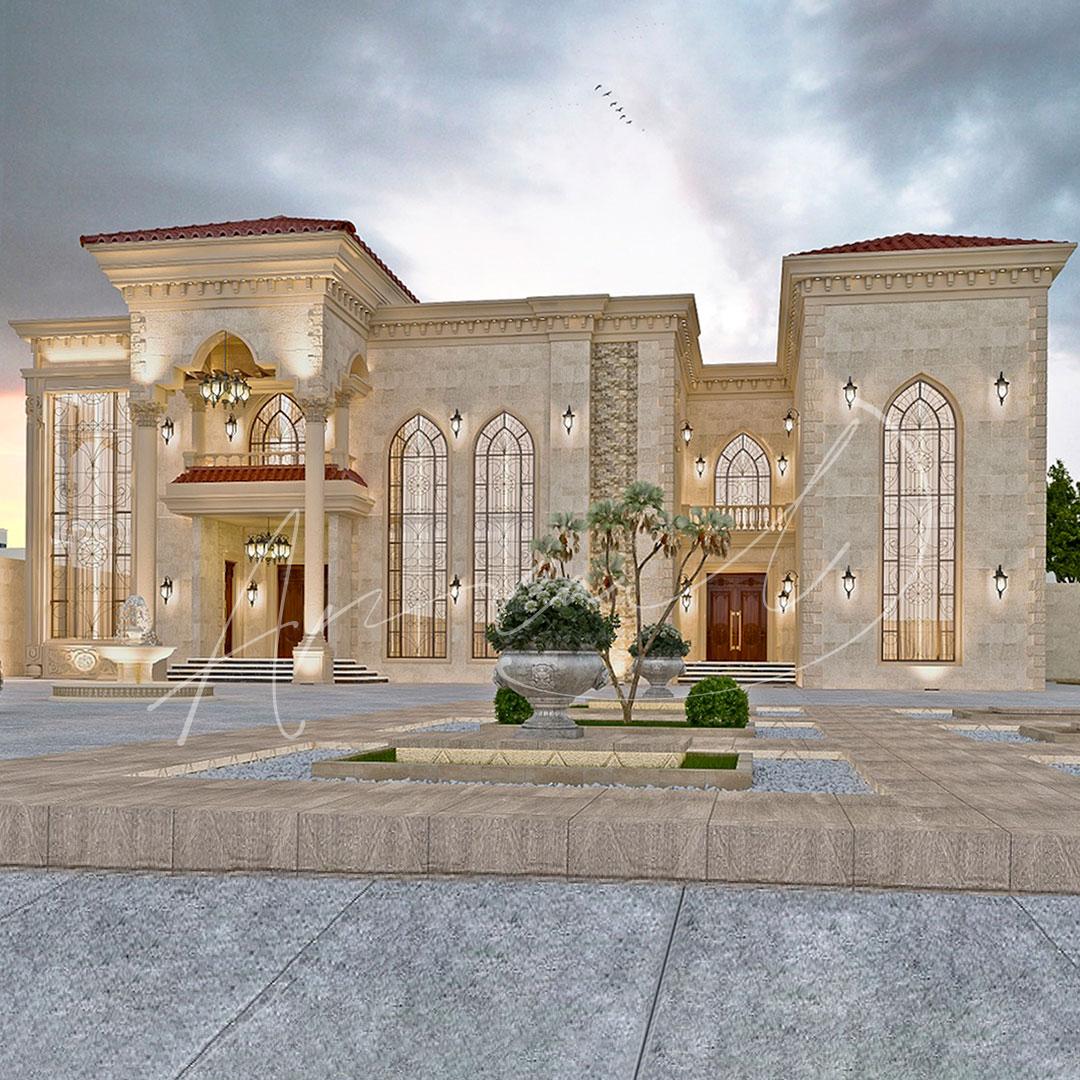 Classic Residential Villa Exterior Design - 006