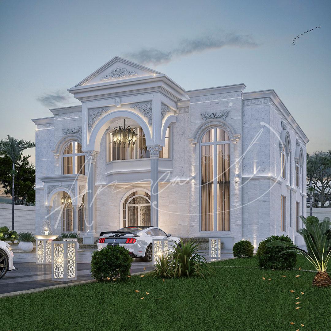 Classic Residential Villa Exterior Design - 007