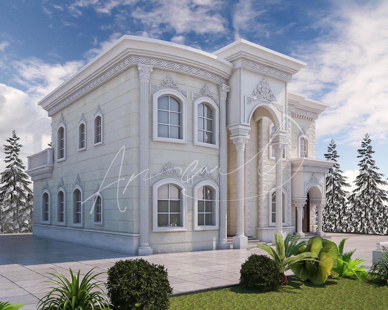 Classic Luxury Residential Villa Exterior Design - 010