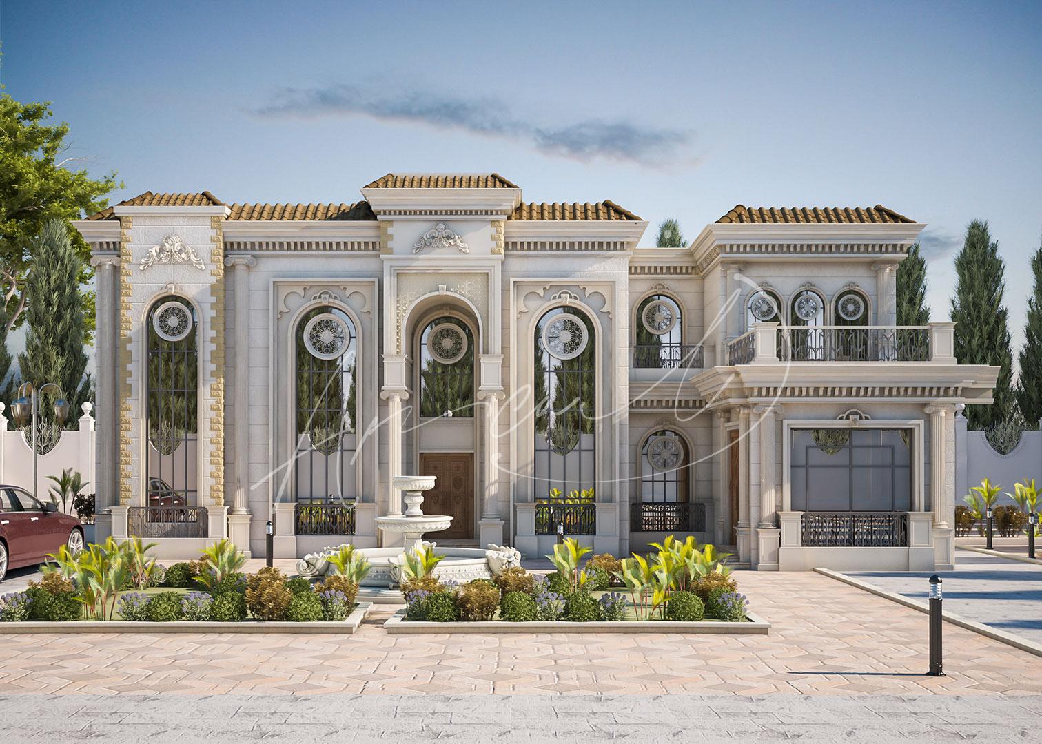 Classic Luxury Residential Villa Exterior Design - 012
