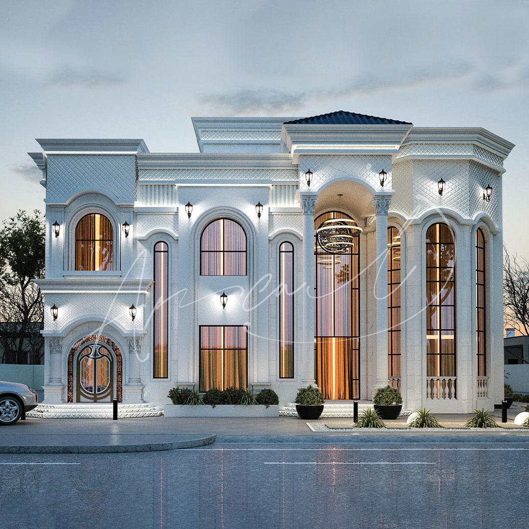 Classic Residential Villa Exterior Design - 016