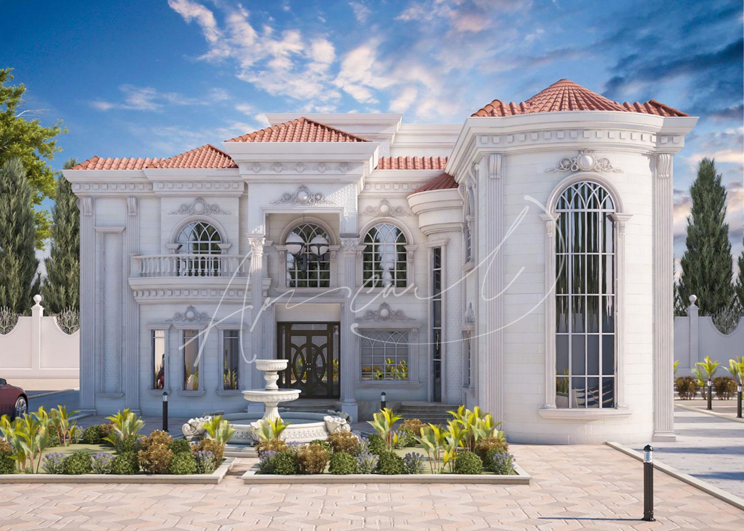 Classic Luxury Residential Villa Exterior Design - 018