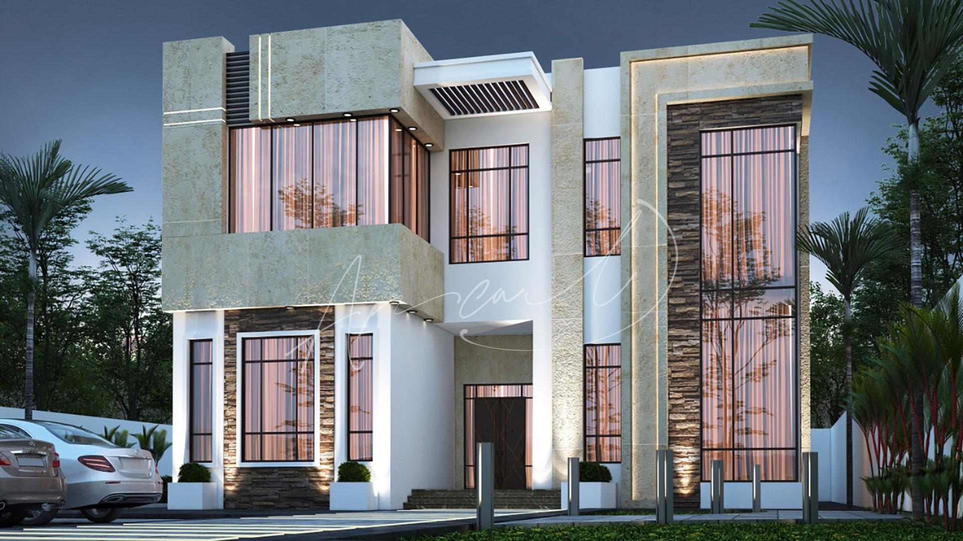 Modern Villa Exterior Design - 029