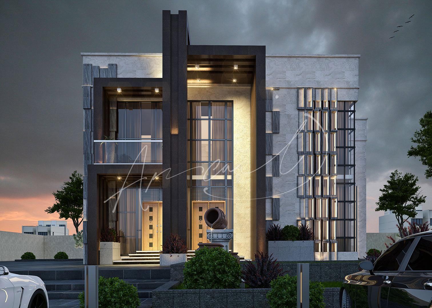 Modern Luxurious Villa Exterior Design - 026
