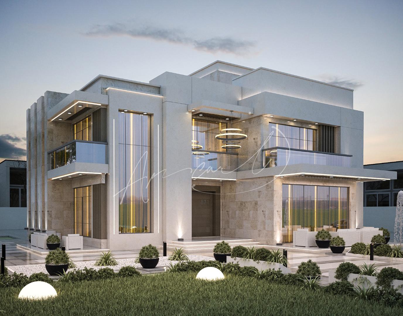 Modern Luxurious Villa Exterior Design - 082