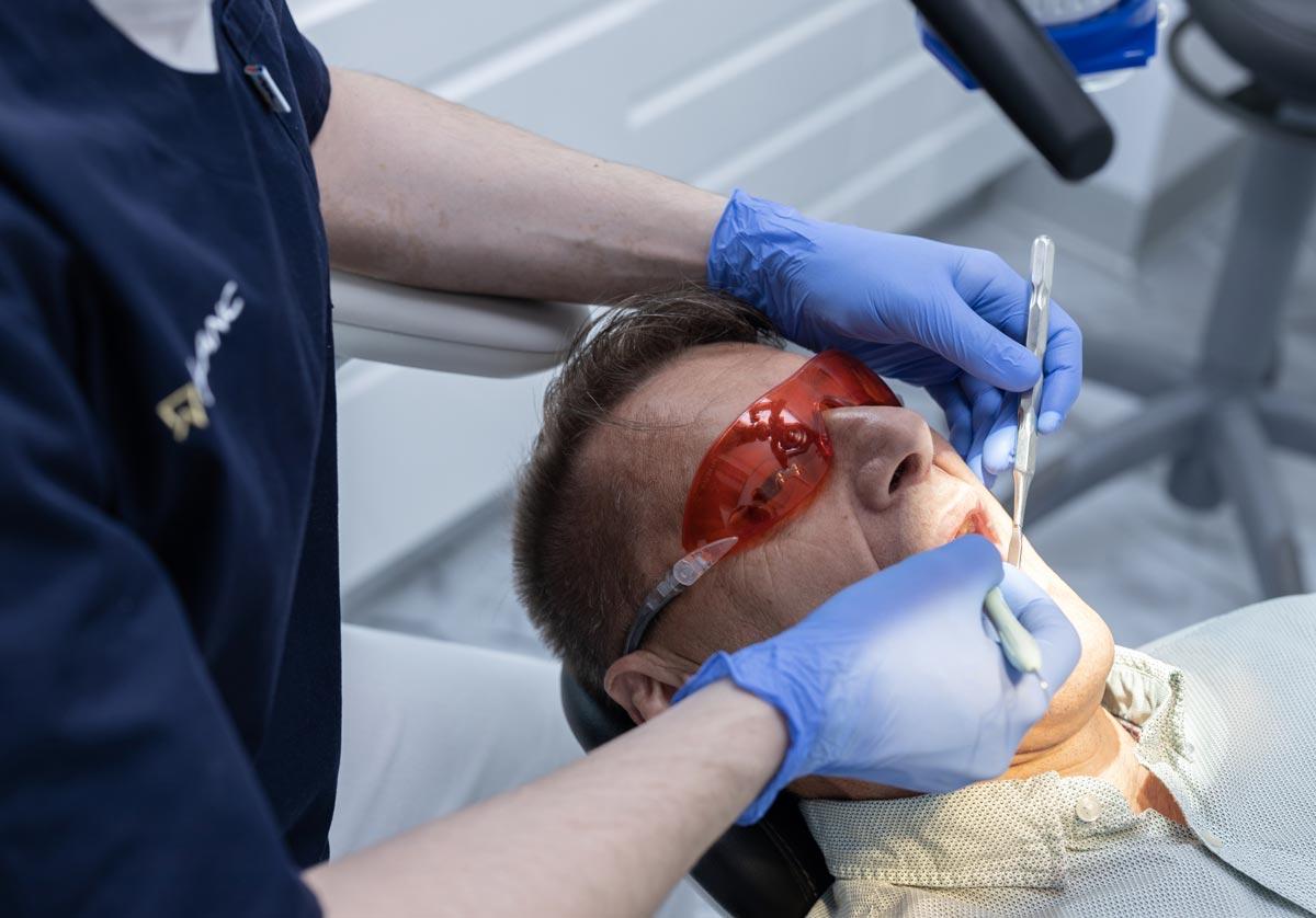 Ošetrovanie pacienta zubárom