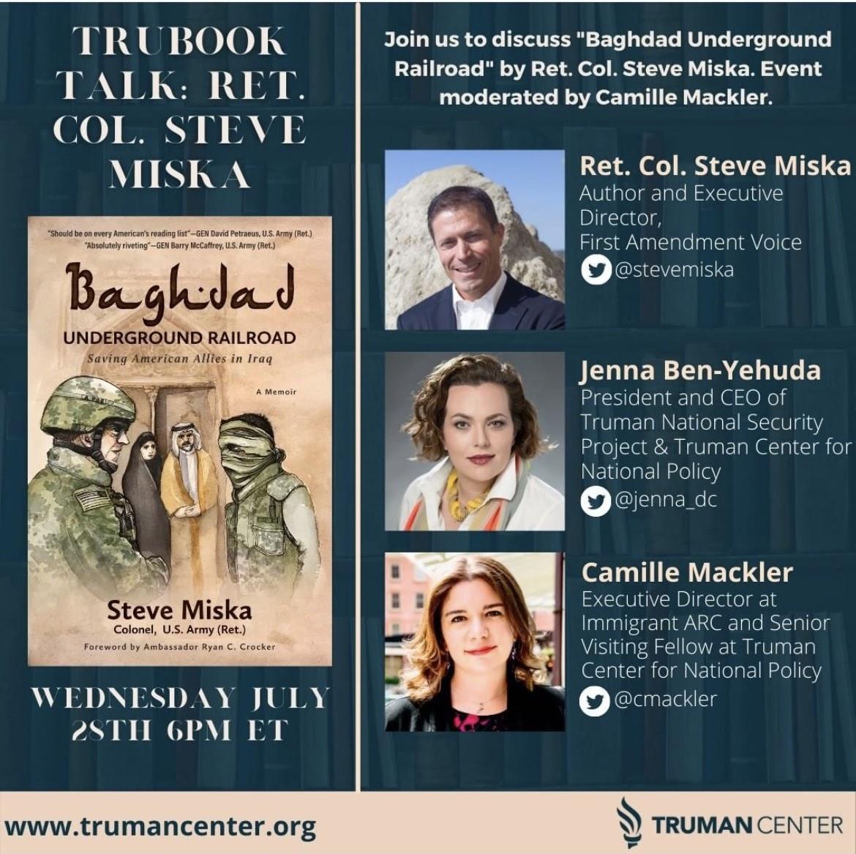 Baghdad Underground Railroad Book Talk