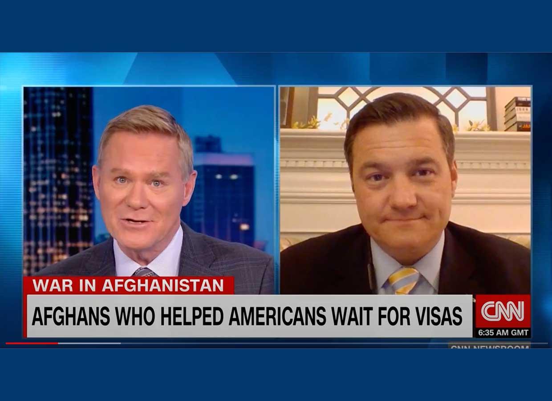 Matt Zeller speaks to CNN International's Newsroom with Michael Holmes