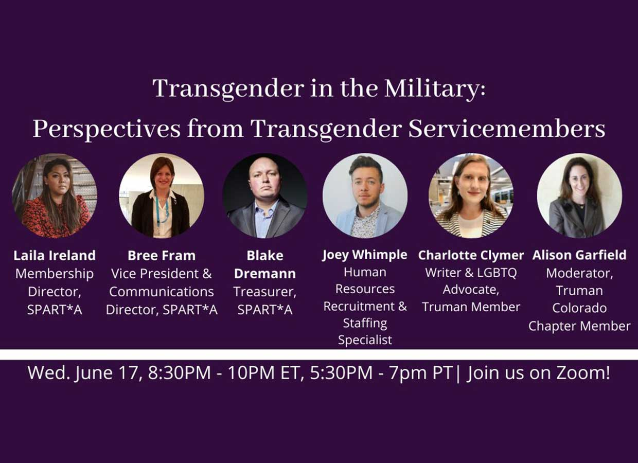 Event: Transgender in the Military: Perspectives from Servicemembers