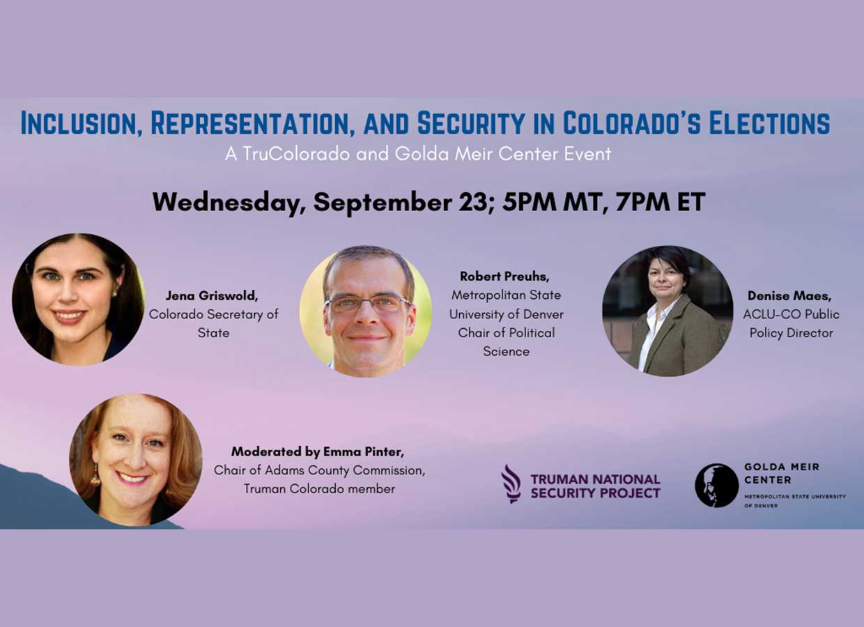 Event: Inclusion, Representation, and Security in Colorado's Elections