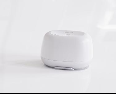 Butlr's sensor in a white background
