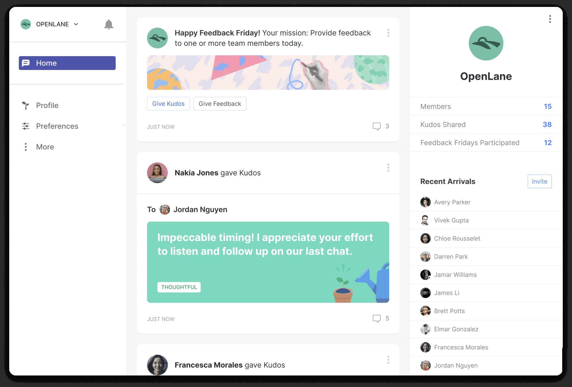 Screenshot of Matter's website, a constructive feedback tool.