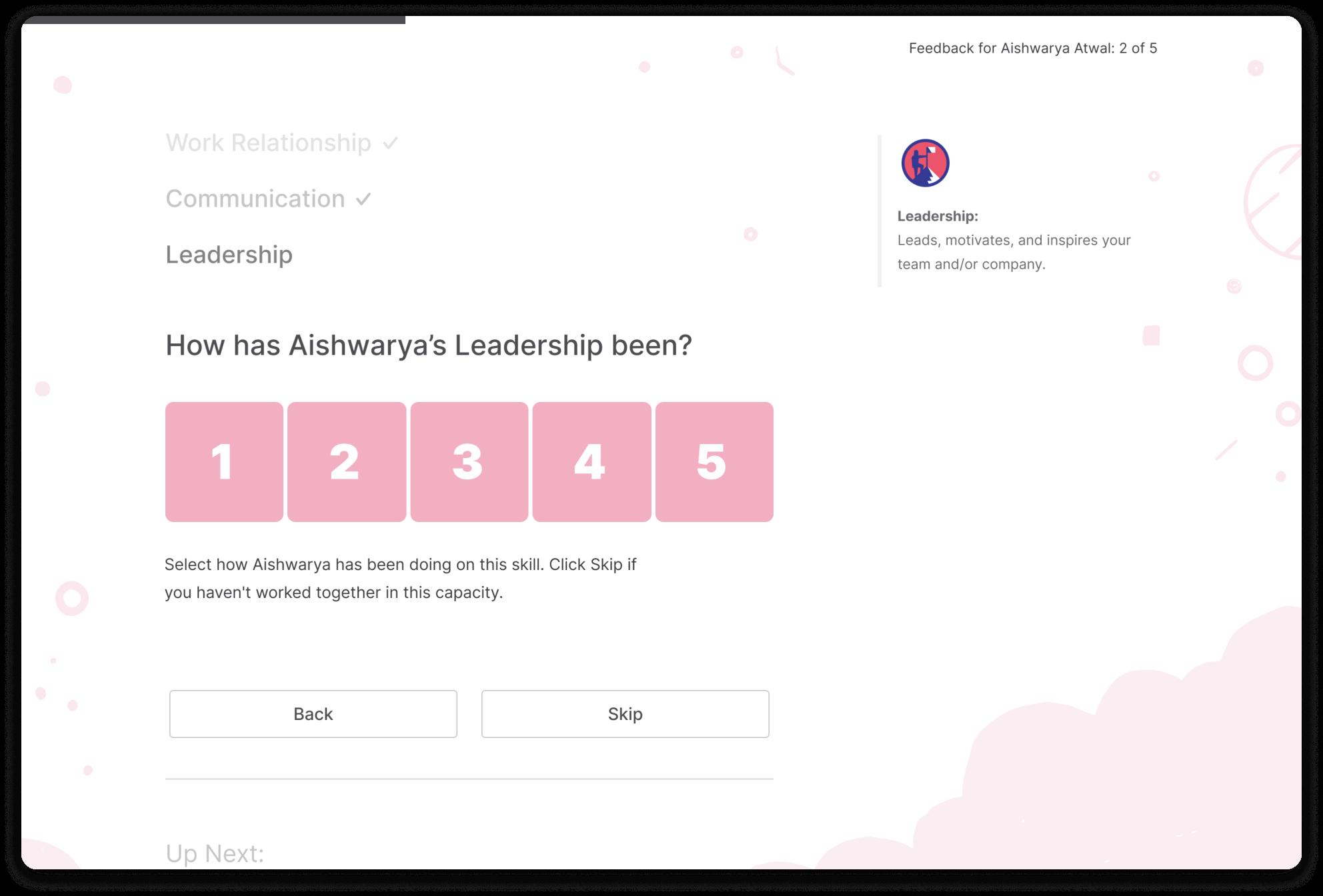 Screenshot of Matter landing page, a constructive feedback tool.