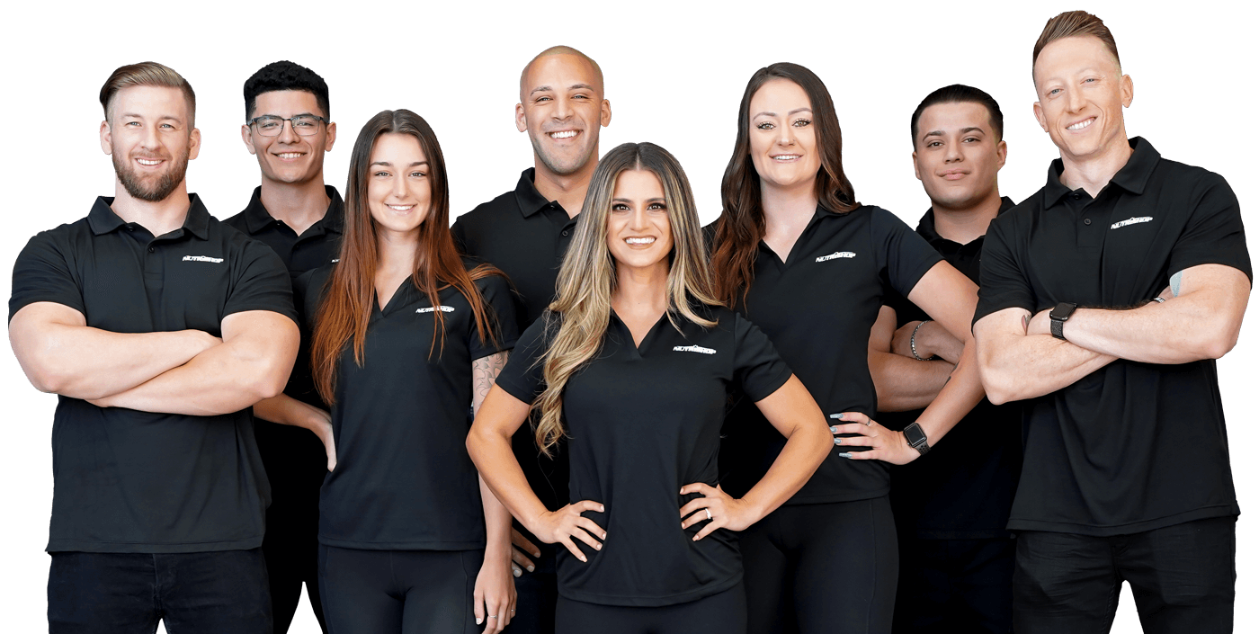 A group photo of Nutrishop staff members