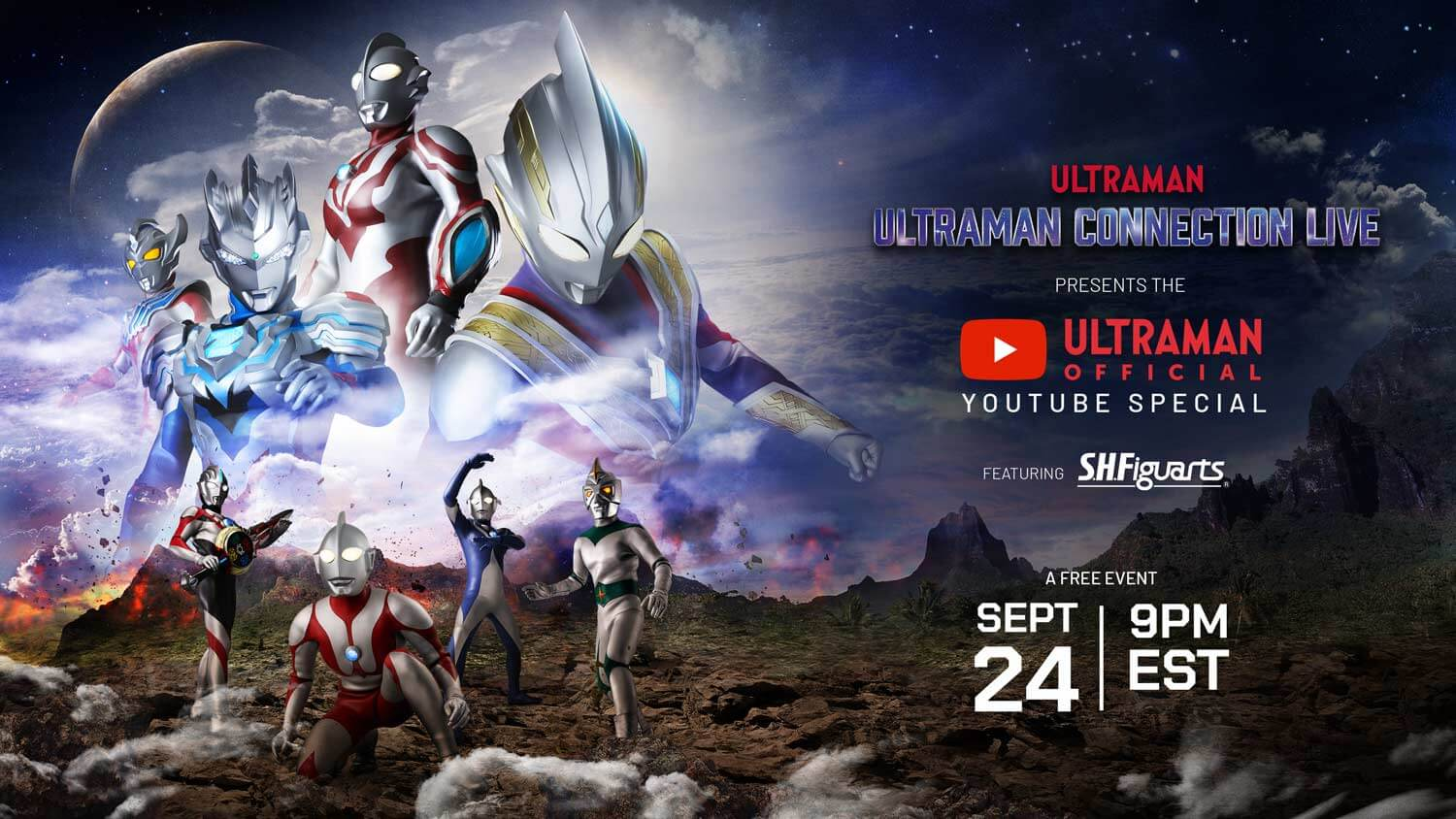 ULTRAMAN CONNECTION LIVE: YOUTUBE SPECIAL TO FEATURE SPECIAL GUESTS, SURPRISE REVEALS!