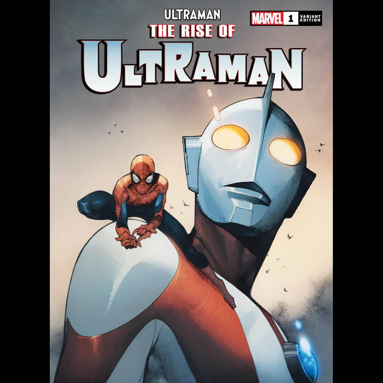 SPIDER-MAN TEAMS UP IN OLIVIER COIPEL'S VARIANT COVER FOR   'THE RISE OF ULTRAMAN' #1