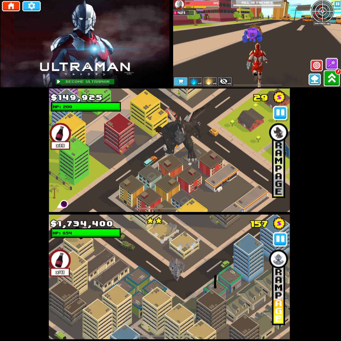 ACEVIRAL JOINS THE ULTRAMAN LICENSING PROGRAM  WITH ITS NEWEST GAME UPDATE, SMASHY CITY: ULTRAMAN!