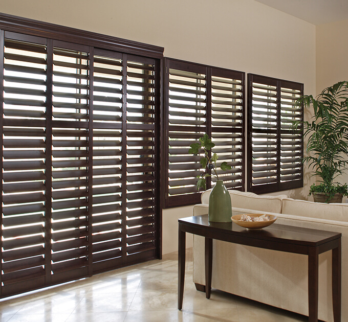 Timber Plantation shutters