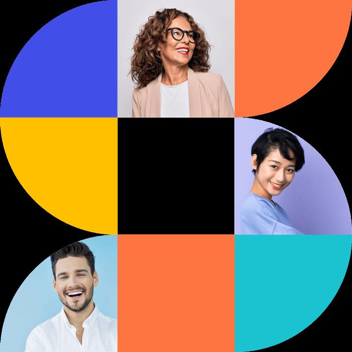 Salesroom logo with portraits