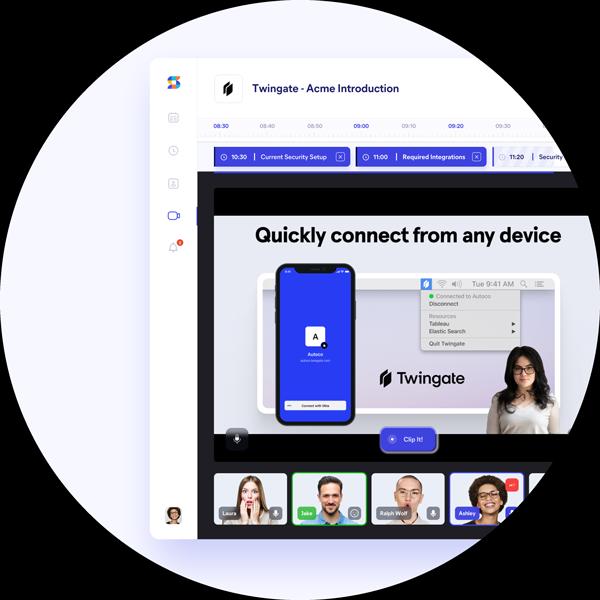 Circle image of app screen