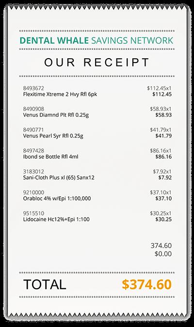 DWSN Receipt: Total $374.60