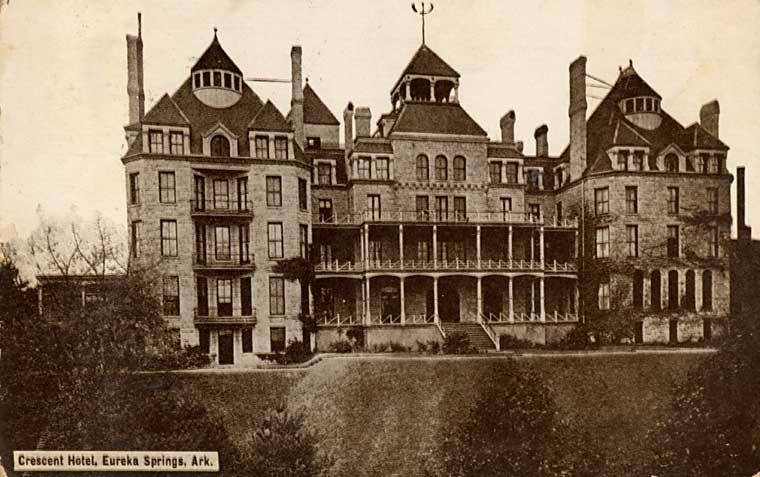 The Crescent Hotel in Arkansas.