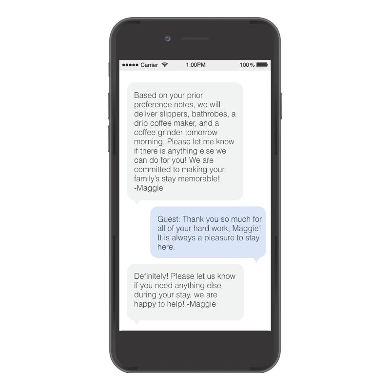 Kipsu example conversation on iphone